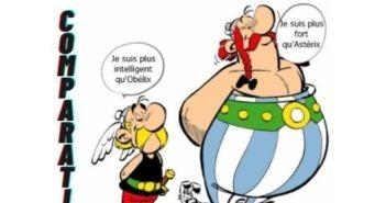 Image illustrant Asterix et Obélix se comparant, comme il faut comparer les différentes tablettes tactiles enfants du marché.