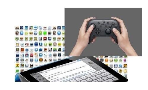Panel d'images d'applications pour tablette tactile enfant.